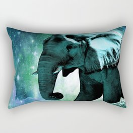 Galaxy Elephant of the Planet Pachyderm Rectangular Pillow