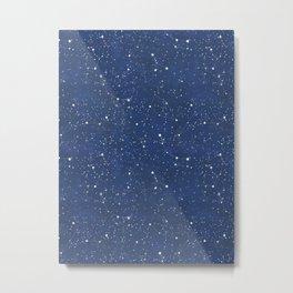 Starry Night Pattern Metal Print