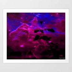 A Rose in Space Art Print