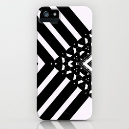Modern Minimal Black White V Patten iPhone Case