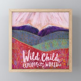 Wild Child Explore the World Framed Mini Art Print
