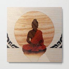 Buddha marquetry Metal Print