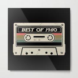 Best of 1980 Birthday Gift Casette Metal Print