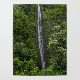 Stunning Plunging Waterfall Poster
