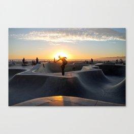 Sunset Skate Canvas Print