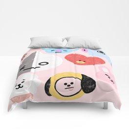 BTS21 Characters in Pastel Comforters