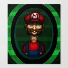 Sad Mario Canvas Print