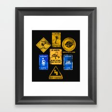 USEFUL SIGNS Framed Art Print
