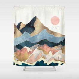 Golden Peaks Shower Curtain