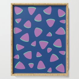 Abstract Graphic Pattern | Blue | Pink | Green Serving Tray