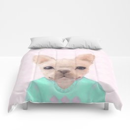 Portrait Of French Bull Dog Comforters