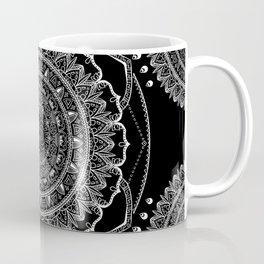 Black and White Geometric Mandala Coffee Mug