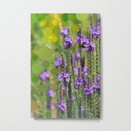 LOOSESTRIFE purple invasive wildflower abstract design Metal Print