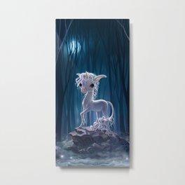 night unicorn Metal Print