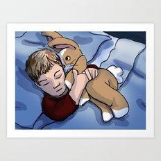 Boy Sleeping Art Print