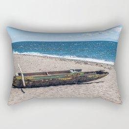 Sea Kayak Stripped By Nature Rectangular Pillow
