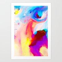 bat Art Prints featuring Bat by Kimsey Price