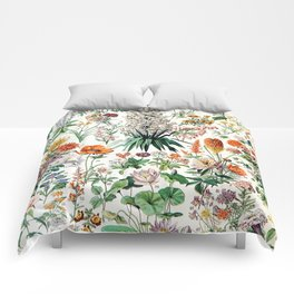 Adolphe Millot - Fleurs B - French vintage poster Comforters