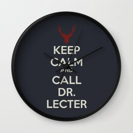 Keep Calm and Call Dr. Lecter Wall Clock