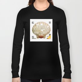 Cross Collage Prints Sea Shell Long Sleeve T-shirt