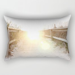 Maine Enterance to the Beach Rectangular Pillow
