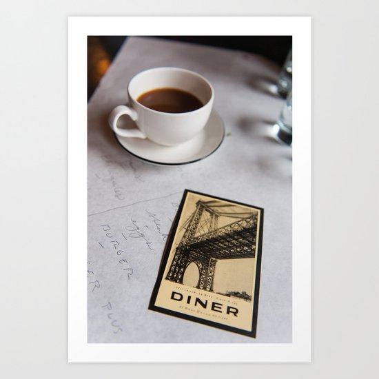 New York Diner Art Print
