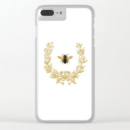 French Bee acorn wreath Clear iPhone Case