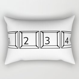 1234 Keyboard Buttons Rectangular Pillow