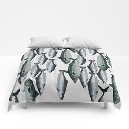 Tuna and Salmon Fish Design Comforters