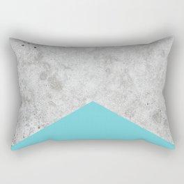 Concrete Arrow - Light Blue #206 Rectangular Pillow