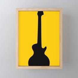 Simple Guitar Framed Mini Art Print