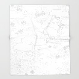 land of 15 towns and a cemetary Throw Blanket