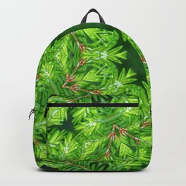 Spring green Canadian Hemlock mandala Backpack