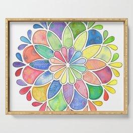 Watercolor Mandala Serving Tray