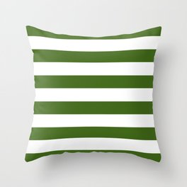Simply Stripes in Jungle Green Throw Pillow