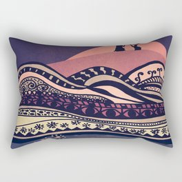 Psychedelic mountains (colour option) Rectangular Pillow