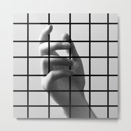 Caged Hand 2 Metal Print