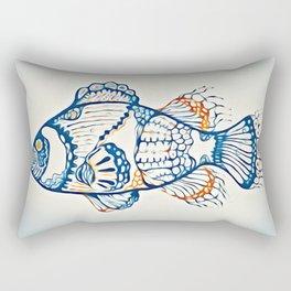 BLUE FISH Digital Painting Rectangular Pillow