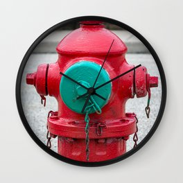 TCIW Red Fire Hydrant Traverse City Iron Works 70's model Red Fireplug Wall Clock