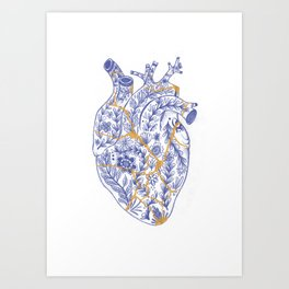 Kintsugi broken heart Art Print