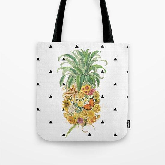 Pineapple Floral Tote Bag
