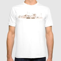 rooftops MEDIUM Mens Fitted Tee White