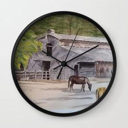 Old Horse Barn Wall Clock