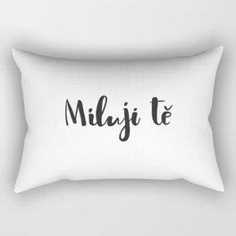 I love you in Czech Rectangular Pillow
