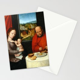 Virgin and Child with Saint Joseph Stationery Cards