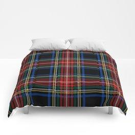 Minimalist Black Stewart Tartan Comforters