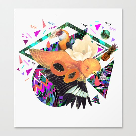 PAPAYA by Carboardcities and Kris tate Canvas Print