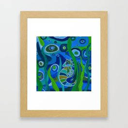 Seahorse Sea tote Framed Art Print