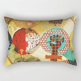 Peace, Love and Thinkin´ Rectangular Pillow