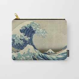 The Classic Japanese Great Wave off Kanagawa Print by Hokusai Carry-All Pouch